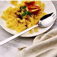 2 in 1 Stainless Steel Sporks Soup Salad Noodle Spoon & Fork Cutlery Tablewares