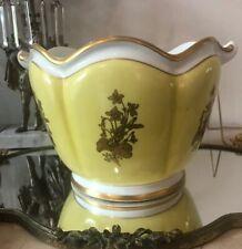 Vintage Mottahedeh Large Cachepot Planter Pot YELLOW Gold Gilt JARDINIERE