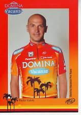 CYCLISME carte cycliste PAOLO VALOTI  équipe DOMINA VACANZE 2005