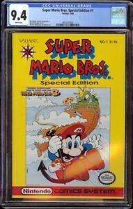 Super Mario Bros Special Edition # 1 CGC 9.4 White (Valiant 1990) Highest graded