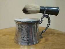 Quadruple Plated Shaving Cup And Brush From Appolo Silver Co.