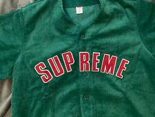 Supreme Corduroy Baseball Jersey Dusty Green Xl New Ss 18 Read Description!