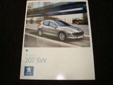 Peugeot 207 2008 Car Sales Brochures