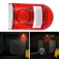 1 pcs solaire alarme lumière sans fil capteur de mouvement jardin / cour lampe