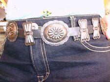 Early Vintage Sterling Silver Handmade Choncos Belt. MUST SEE! NICE SHAPE!