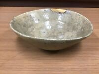 Y0811 CHAWAN Koseto Ko Seto-ware bowl gold repair Japanese pottery Japan