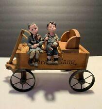 Sarah's Attic Wagon & 2 Sarah's Gang Figurines Silly Booba And Jack Boy
