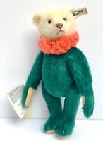 "11"" VTG STEIFF BEAR CIRCUS DOLLY BEAR GREEN 1987 REPLICA 1913 JOINTED 0164/32"
