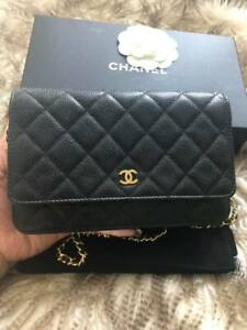 Chanel Wallet on Chain Caviar in Gold hardware