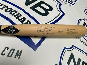 Jose Canseco Signed Game Model Bat Oakland Athletics 4 Inscriptions JSA COA