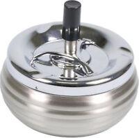 Épurateur Rotatif Métal Chrome / Brossé - Bombée à Côtes - 3 Compartiments - 120