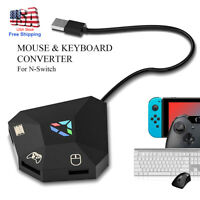 USB Hub Adapter Keyboard Mouse Game Controller Converter LED for PS4 XBOX Switch
