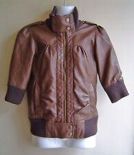 H&M Waist Length Faux Leather Coats & Jackets for Women