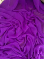 "1 mtr lilac chiffon dress fabric...45"" wide 114cm"