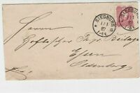 Germany 1887 Stamps Cover to Essen Oldenburg Siegburg Double Cancel Ref 23248