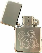 Personalised Monkey Silver Colour Star Petrol Lighter (T395)