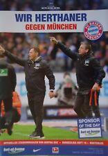 Programm BL 2016/17 Hertha BSC Berlin - Bayern München