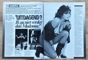 SABRINA SALERNO - Bericht + BANANARAMA + ASTLEY + 80s clipping SAUBER ENTNOMMEN!