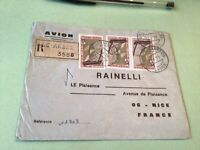 Republic Gabonaise  to France Airmail stamps Cover Ref 51420