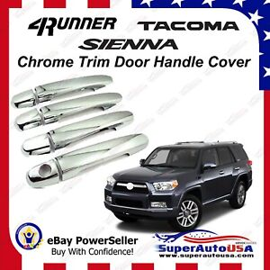 Mirror Chrome Door Handle Cover Trims For Toyota Tacoma Sienna 4Runner 2004-2011