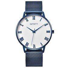 Infinity NB 07 Blue Desire Mesh Belt Women Minimalist  - Women Fashion Watch
