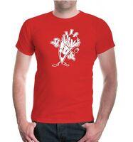 Herren Unisex Kurzarm T-Shirt Pommes Frites fast food Kartoffelsnack Funshirt
