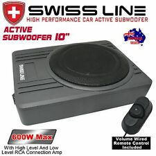 "SWISS LINE New 10"" Car UnderSeat Slim Active Subwoofer 600 W"