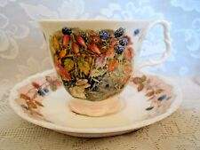 ROYAL DOULTON BRAMBLEY HEDGE Autumn Bone China Footed Cup&Saucer-Made in England