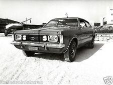 Ford Taunus TC GXL Coupe Original 1973 Italian Roma Press Photograph Front
