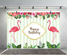 Birthday Theme Flamingo Studio Props Vinyl Photo Backdrops Photography
