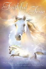 White Horse FAITHFUL AND TRUE (Revelation 19:11) Inspirational Christian POSTER