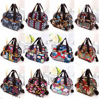 Women Nylon Printed Multi Pocket Crossbody Shoulder Bag Hobo Bag Zipper Handbag.