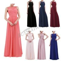 UK Womens Formal Lace Long Dress Prom Evening Party Cocktail Bridesmaid Wedding