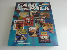 PC CD-ROM 10 Games – Game Pack Deutsch RARE