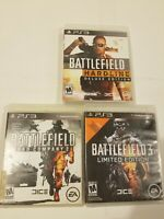 Battlefield 3 Limited Edition Bundle Lot PS3 Game Bad Company Hardline Deluxe