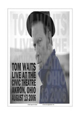 Tom Waits 2006 Akron Concert Poster