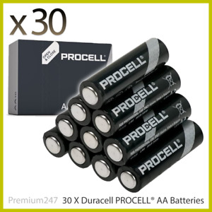 30 x AA Duracell batteries Procell Industrial Alkaline Battery Expiry 2026 UK