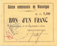 Wasseiges  1 franc  rare