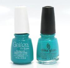 China Gelaze Nail Gel Polish + Matching Lacquer Turned Up Turqouise #81624