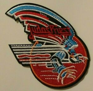 """Judas Priest~Patch~Embroidered~3 3/4"""" x 3""""~Iron or Sew on~Heavy Metal Rock"""