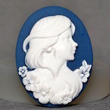 Lady cameo Molde de Silicona Cupcake Molde Chocolate De Resina Fimo Arcilla Polimérica Floral