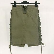 â• 90s Vintage Lace up skirt : military pants avant garde jacket maharishi raver