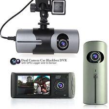 "NEW! 2.7"" TFT LCD DashCam Dual Camera GPS Logger Car DVR Recorder AKA BlackBox"