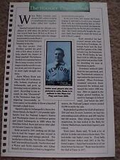 Amos Rusie 1990 Baseball Card Engagement Book w/ 1895 Mayo Cut Plug Tobacco Card