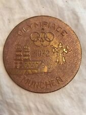 """Olympiade Munchen 1972 Collector Plate/trivet Munich Olympics West Germany 5"""""""