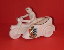 Carlton Crested China  Motorbike with Sidecar and Rider  SANDWICH Crest