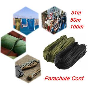 100m Army Military Paracord Reel 4mm Basha Tent Bivi Camping Guy Rope Para Cord