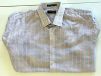Pierre Cardin Mens Blue/Pink Check Long Sleeve Shirt Size 44/91