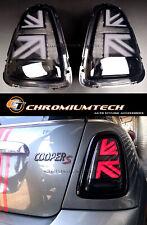 MK2 MINI Cooper/S R56 R57 R58 R59 3D Black Union Jack Rear Tail Lights Pre-LCI