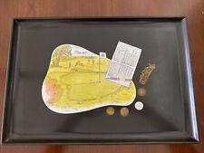 Vintage Couroc Monterey 12x18 Tray Golf Coin Inlay